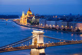 Budapest Cityscape at Night — Stock Photo