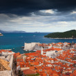 Old Town of Dubrovnik and Lokrum Island - Stock Photo