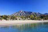Marbella Beach on Costa del Sol — Stock Photo