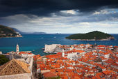 Old Town of Dubrovnik and Lokrum Island — Stock Photo