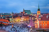 Old Town in Warsaw at Evening — Stock Photo
