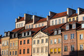 Old Town Tenement Houses in Warsaw — Stock Photo