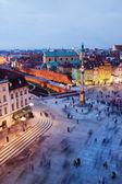 Castle Square in Warsaw — Stock Photo