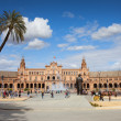 Plaza de Espana in Seville - Stockfoto