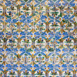 Azulejos Tiles in Mudejar Style Background - Stock Photo