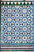 ściany wyłożone płytkami azulejo w stylu mudejar — Zdjęcie stockowe