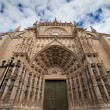 Seville Cathedral West Facade - Stock Photo