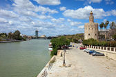 Guadalquivir River and Gold Tower in Seville — Stock Photo