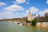 Seville River View — Stock Photo