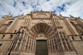 Seville Cathedral West Facade — Stock Photo