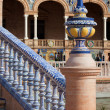 Azulejo Glazed Balustrade and Finial — Stock Photo #21277407