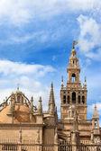 Věž katedrály seville a kopule — Stock fotografie