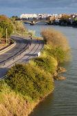 塞维利亚在河边 — 图库照片