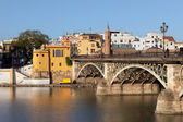 Triana Bridge in Seville — Stock Photo