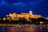 Buda Castle at Night in Budapest — Stock Photo