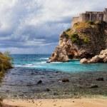 Dubrovnik Bay and Fort Lovrijenac — Stock Photo #23565903