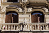 Old Apartment Building Details in Madrid — Stock Photo