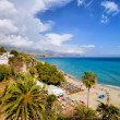 Calahonda Beach in Nerja — Stock Photo