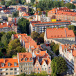 City of Gdansk Cityscape in Poland — 图库照片