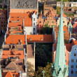Stock Photo: Old Town in Gdansk from Above