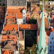 Old Town in Gdansk from Above — Stock Photo