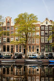 Singel Canal Houses in Amsterdam — Stock Photo