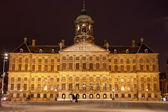 Royal Palace in Amsterdam at Night — Stock Photo