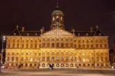 Royal Palace in Amsterdam at Night — Stock Photo