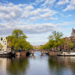 Stock Photo: River View of Amsterdam