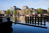 City of Amsterdam River View — Stock Photo