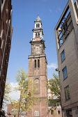 Turm der Westerkerk in amsterdam — Stockfoto