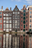 Houses on Canal in Amsterdam Netherland — Stock Photo