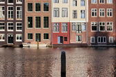 Houses on Water in Amsterdam Netherland — Stock Photo