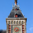 Amsterdam Central Train Station Clock Tower — Stock Photo #29674007