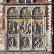Stock Photo: Reliefs on Amsterdam Central Train Station