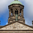 Stock Photo: Pediment and Tower of Royal Palace in Amsterdam