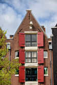 Old House in Amsterdam with Triangular Gable — Stock Photo