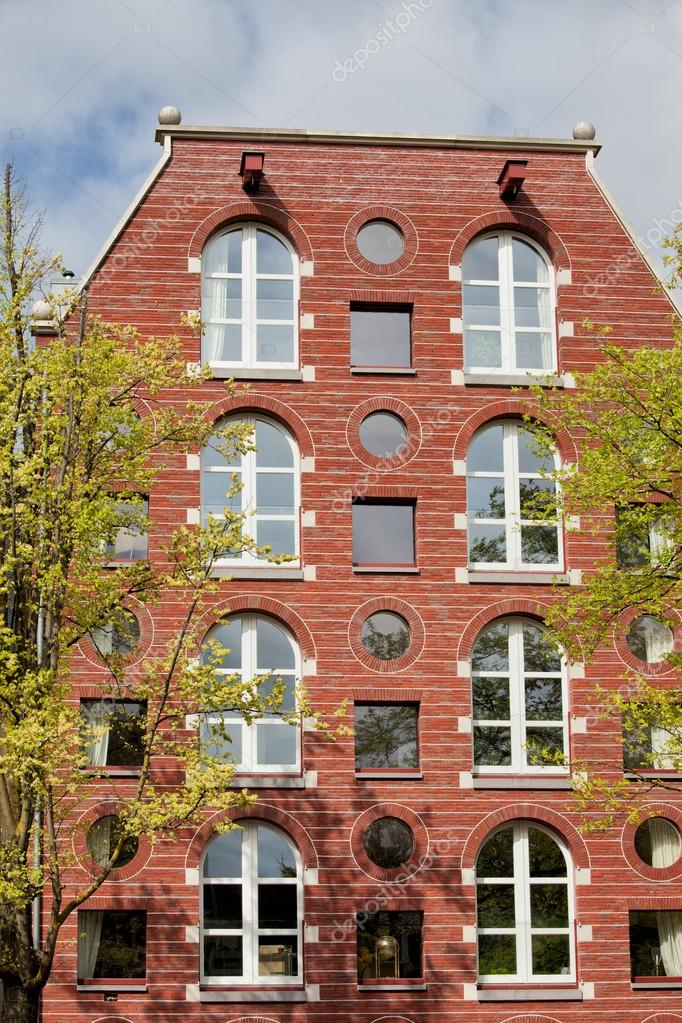 Casa Ventanas Arqueadas Y Ronda En Amsterdam Foto Stock Rognar 30324167