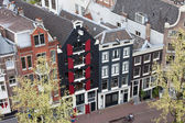 Houses in Amsterdam from Above — Stock Photo