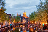 Amsterdam Red Light District in the Evening — Stock Photo