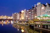 City of Amsterdam at Night — Stock Photo
