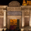 Puerta del Puente at Night in Cordoba — Stock Photo
