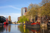 Canal in Rotterdam — Stock Photo