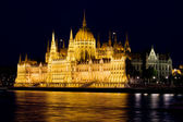 Hungarian Parliament Building at Night — Stock Photo