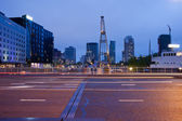 Schiedamsedijk Street at Night in Rotterdam — Stock Photo