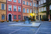 Kanonia Square in the Old Town of Warsaw — Stock Photo