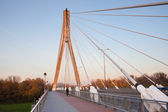 Swietokrzyski Bridge in Warsaw — Stock Photo