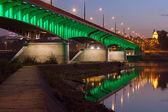 Slasko-dabrowski ponte ao anoitecer, em varsóvia — Foto Stock