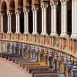 Plaza de Espana Colonnade and Benches in Seville — Stock Photo #35589191