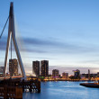 Cityscape of Rotterdam in the Evening — Stock Photo